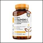 NutraVita - Vitamine C 1000mg avec Bioflavonoïdes et Rose musquée - 180 comprimés Végétaliens