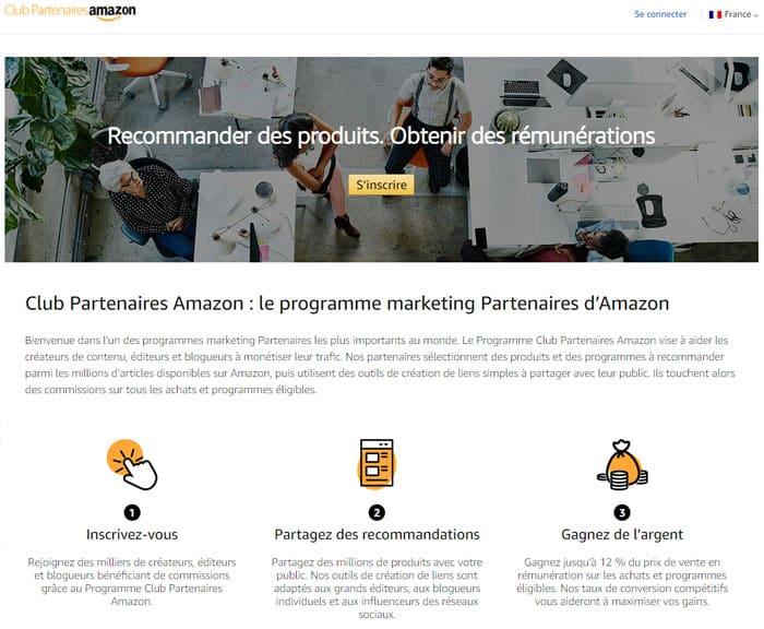 Avec le Club Partenaires d'Amazon, pour pouvez gagner de l'argent en faisant la promotion des produits d'Amazon.