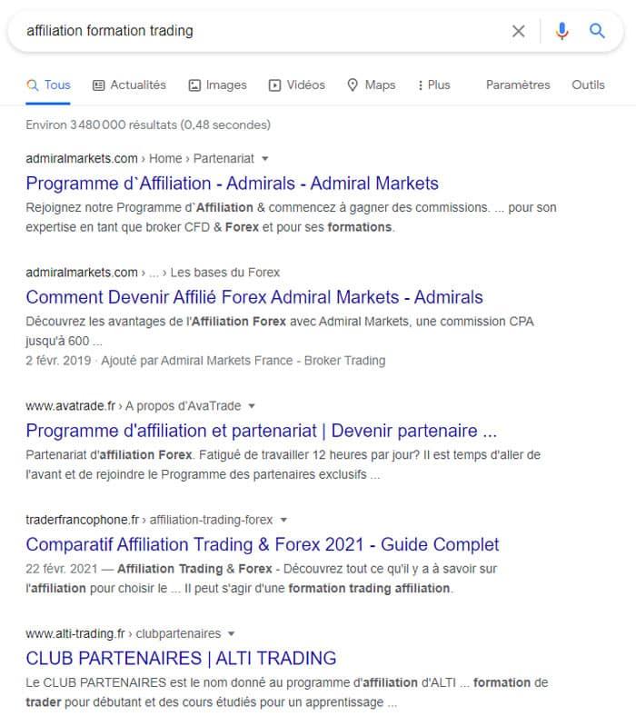 Recherche sur Google pour : affiliation formation trading