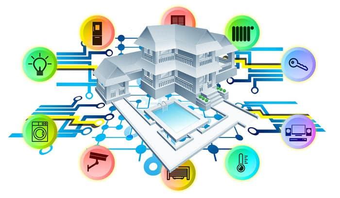 La domotique optimise le fonctionnement de plusieurs appareils.